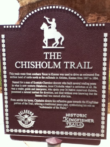 Chisholm_Trail_Historical_Marker_Kingfisher