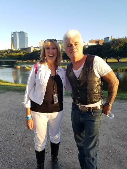 """Mr. Dale """"The Real Deal"""" Watson with the Fort Worth skyline behind us."""