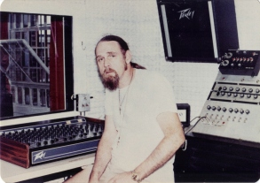 luke-stone-at-mixing-board-recording-studio-leavenworth
