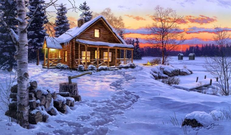 Cabin_Snow