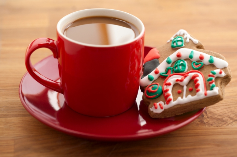 coffee and gingerbread house