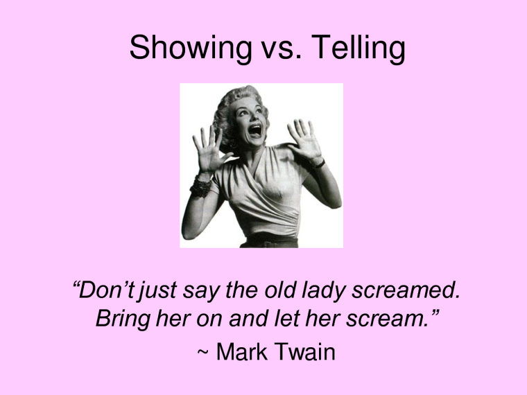 show vs tell_Mark_Twain