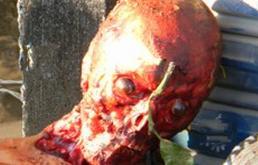 man skinned