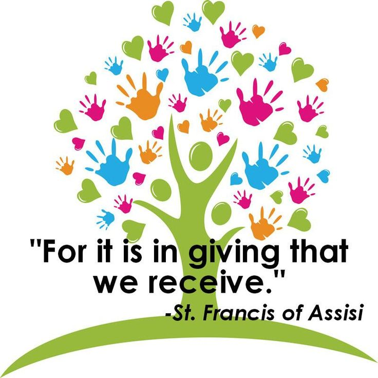 in giving